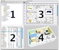 2d 3d raumplaner software wohnungsplaner pc raumplanung for Wohnungsplaner 3d